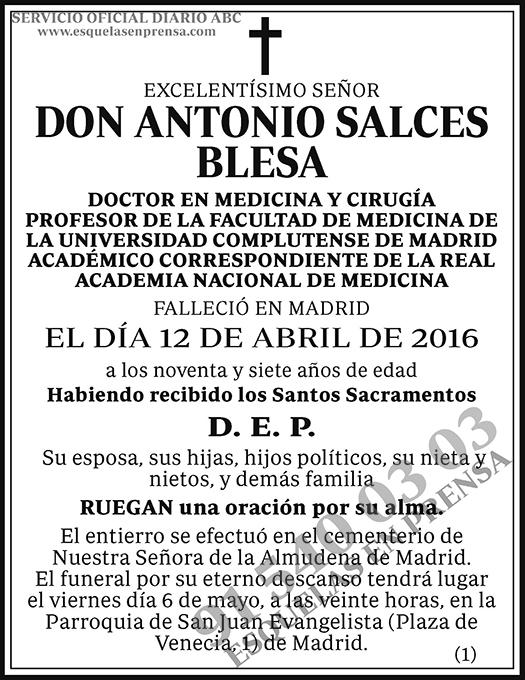 Antonio Salces Blesa